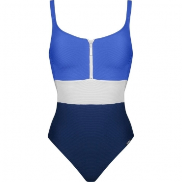 Lidea Contrast 8563 Badeanzug blue white