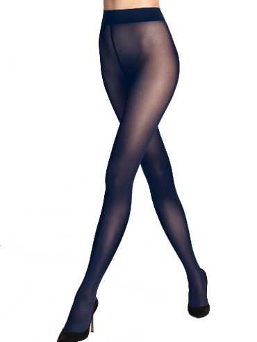 Wolford Pure 50 Tights 14434 Strumpfhose deep blue