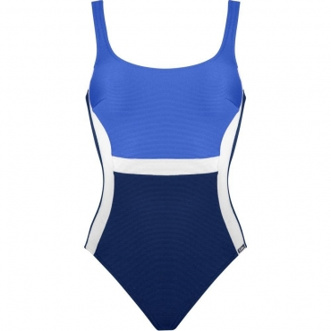 Lidea Contrast 8858 Badeanzug blue white