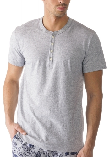 Mey Single 61554 Shirt kurzarm light grey melange