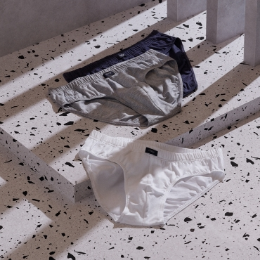 Mey Multipack 39119 Jazz-Pants weiß/grau/blau