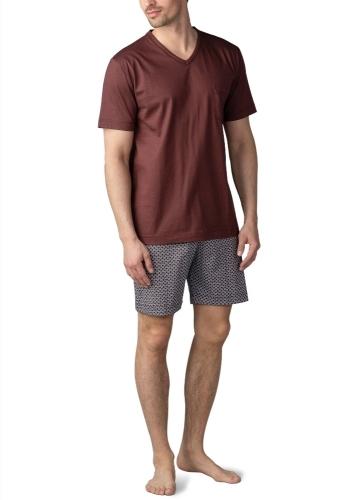 Mey Hammerdal 25871 Schlafanzug kurz rosso scuro