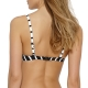 Watercult Active Stripe 7342 Bikini-Oberteil white-black