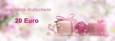 20 Euro Geschenk-Gutschein für den Onlineshop