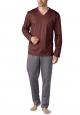 Mey Hammerdal 25881 Schlafanzug lang rosso scuro