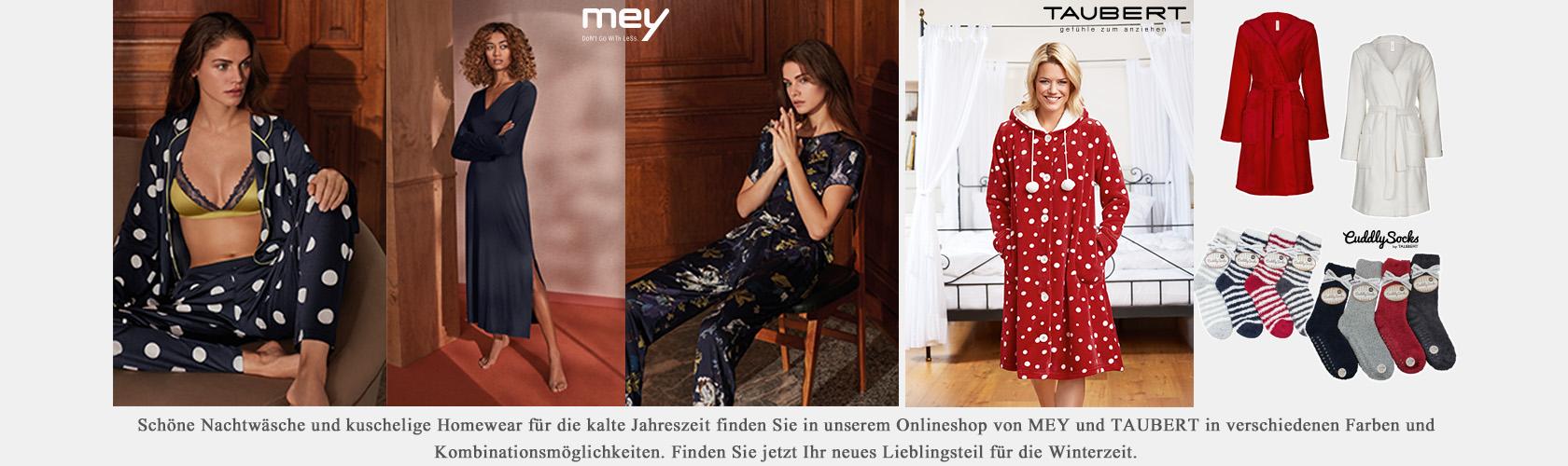 Slideshow MEY Nachtwäsche TAUBERT Homewear 04.12.